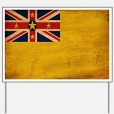 Niue Flag Yard Sign
