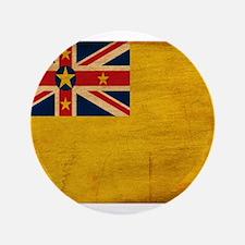 """Niue Flag 3.5"""" Button"""