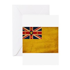 Niue Flag Greeting Cards (Pk of 10)