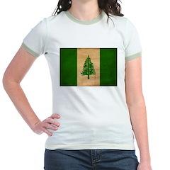 Norfolk Island Flag Jr. Ringer T-Shirt