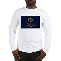 North Dakota Flag Long Sleeve T-Shirt