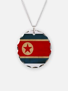 North Korea Flag Necklace