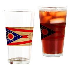 Ohio Flag Drinking Glass