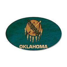 Oklahoma Flag 38.5 x 24.5 Oval Wall Peel