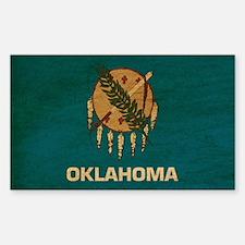 Oklahoma Flag Sticker (Rectangle)