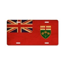 Ontario Flag Aluminum License Plate