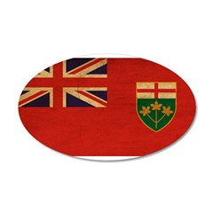 Ontario Flag 38.5 x 24.5 Oval Wall Peel