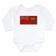 Ontario Flag Long Sleeve Infant Bodysuit