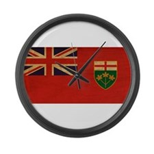 Ontario Flag Large Wall Clock