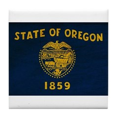 Oregon Flag Tile Coaster