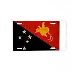 Papua new Guinea Flag Aluminum License Plate