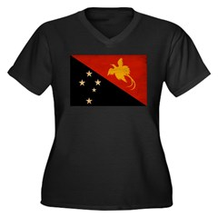 Papua new Guinea Flag Women's Plus Size V-Neck Dar