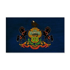 Pennsylvania Flag 22x14 Wall Peel