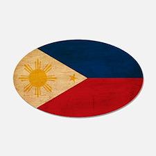Philippines Flag 22x14 Oval Wall Peel