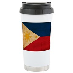 Philippines Flag Stainless Steel Travel Mug