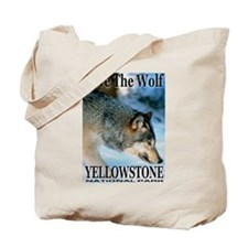 Save The Wolf YNP Large Print Tote Bag