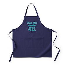 This Girl Needs Yoga. Apron (dark)
