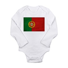 Portugal Flag Long Sleeve Infant Bodysuit