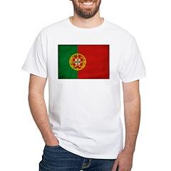 Portugal Flag White T-Shirt