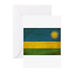 Rwanda Flag Greeting Cards (Pk of 10)
