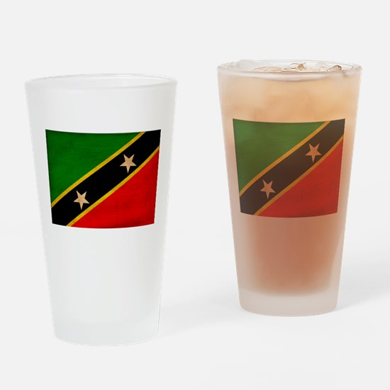 Saint Kitts Nevis Flag Drinking Glass