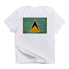 Saint Lucia Flag Infant T-Shirt