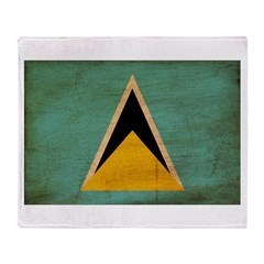 Saint Lucia Flag Throw Blanket