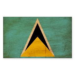 Saint Lucia Flag Sticker (Rectangle 50 pk)
