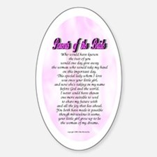 Parents of the Bride Oval Decal