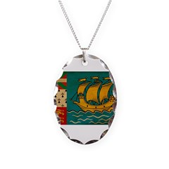 Saint Pierre and Miquelon Fla Necklace