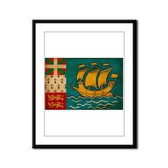 Saint Pierre and Miquelon Fla Framed Panel Print