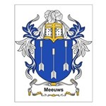 Meeuws Coat of Arms Small Poster