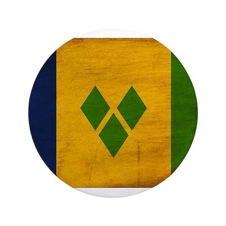"""Saint Vincent Flag 3.5"""" Button (100 pack)"""