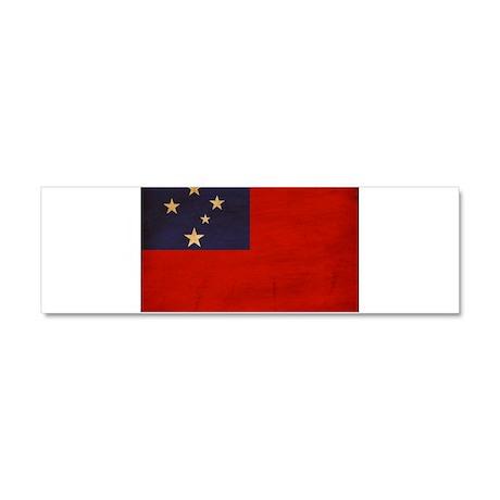 Samoa Flag Car Magnet 10 x 3