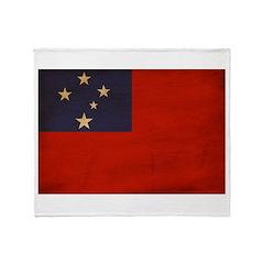 Samoa Flag Throw Blanket