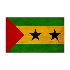 Sao Tome and Principe Flag 38.5 x 24.5 Wall Peel