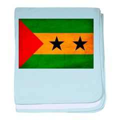 Sao Tome and Principe Flag baby blanket
