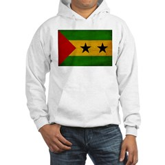 Sao Tome and Principe Flag Hooded Sweatshirt