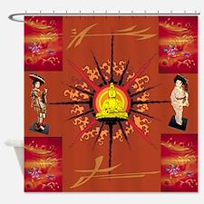 Kosmik Peace Shower Curtain