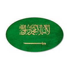 Saudi Arabia Flag 22x14 Oval Wall Peel