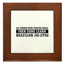 Brazilian Jiu-Jitsu design Framed Tile