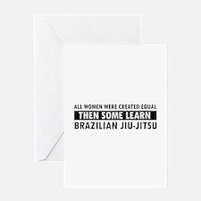 Brazilian Jiu-Jitsu design Greeting Card