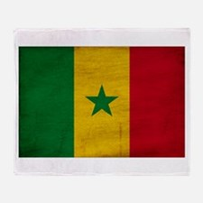 Senegal Flag Throw Blanket