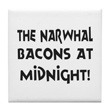 Narwhal Bacons at Midnight Tile Coaster