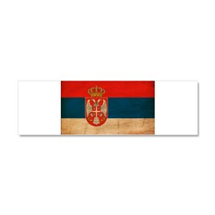 Serbia Flag Car Magnet 10 x 3