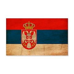 Serbia Flag 22x14 Wall Peel