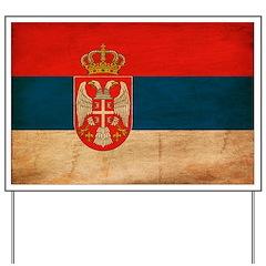 Serbia Flag Yard Sign