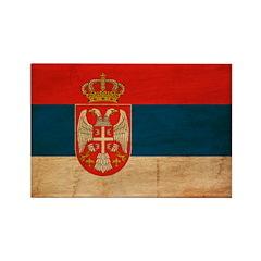 Serbia Flag Rectangle Magnet (100 pack)