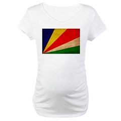 Seychelles Flag Maternity T-Shirt