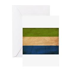 Sierra Leone Flag Greeting Card